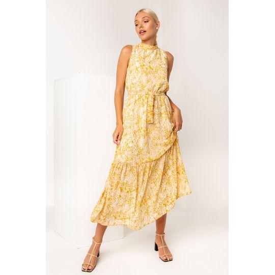 Платье Бушон 5425 шафрановое