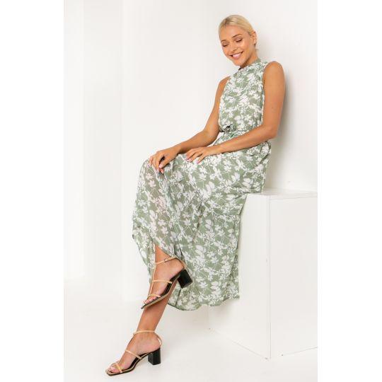 Платье Бушон 5423 оливковое