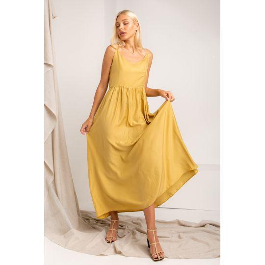 Платье Мулен 5370 горчичное