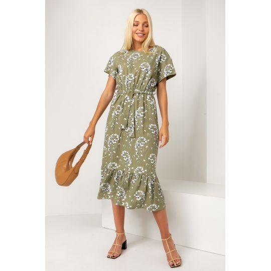 Платье Палисота 5316 оливковое