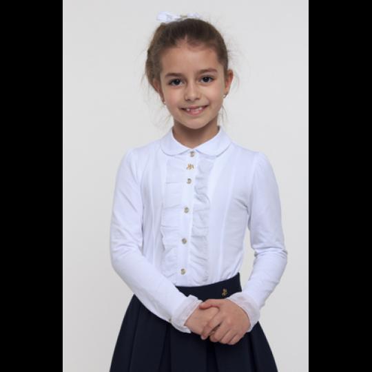Блуза трикотажная для девочки 114513 / 114514 молочная