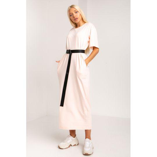 Платье Кремери 5388 персиковое