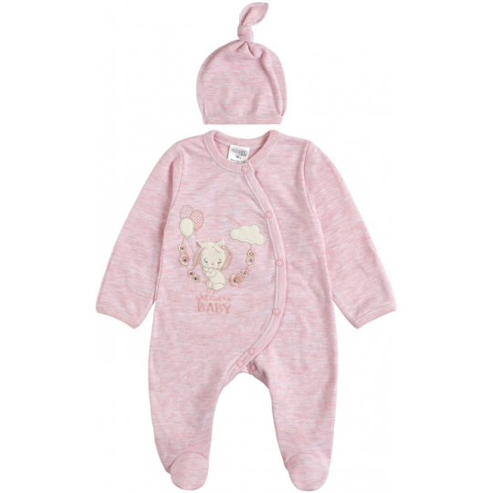 Комплект комбинезон и шапочка для малыша 29243-02 розовый