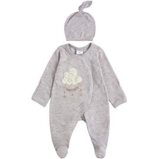 Комплект комбинезон и шапочка для малыша 29243-02 серый