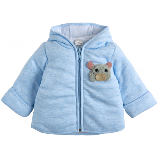 Куртка демисезонная утеплённая 105561-02-32 голубой меланж