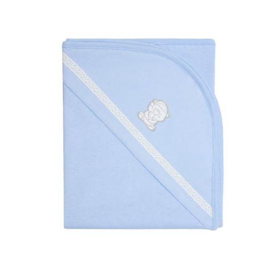Покрывало нарядное 119775 голубое