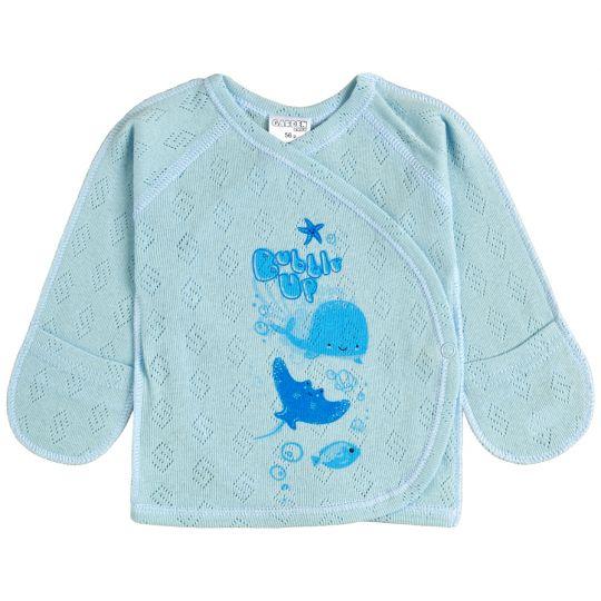 Распашонка 18142-88 голубой ажур