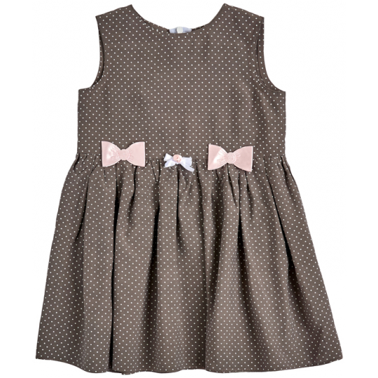 Платье 45079-42 Горошки Розовый бантик