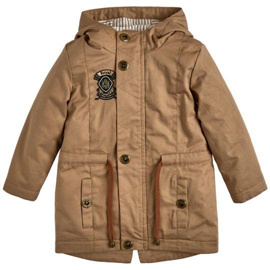 Куртка демисезонная для мальчика 105559-40 кофейная