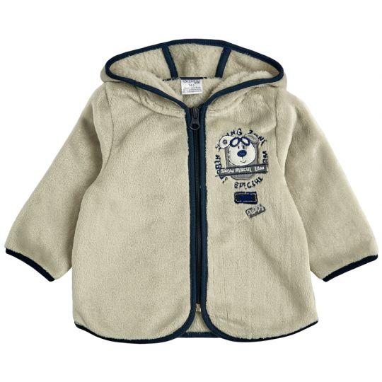 Куртка кофта на молнии для малыша 30009-25 махра молочная