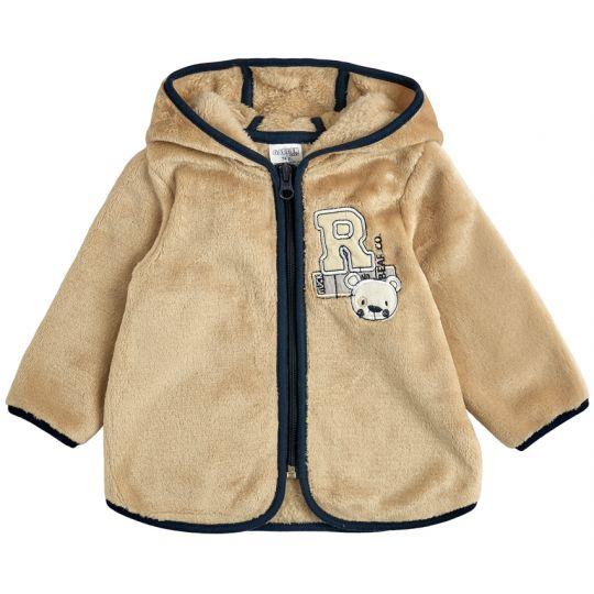 Куртка кофта на молнии для малыша 30009-25 микро-махра капучино