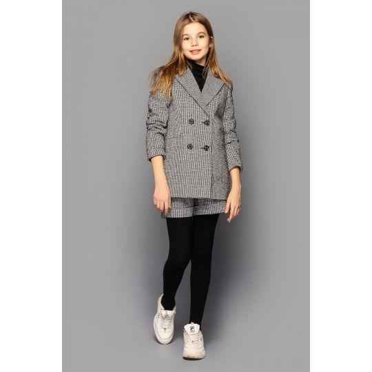 Комплект для девочки Бетти (жакет + шорты) серый
