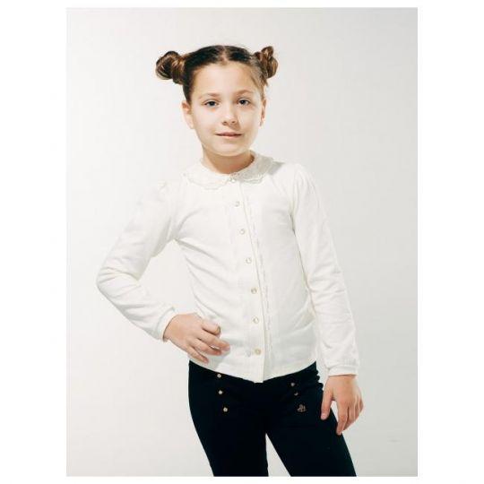 Блуза 114604 белая трикотажная