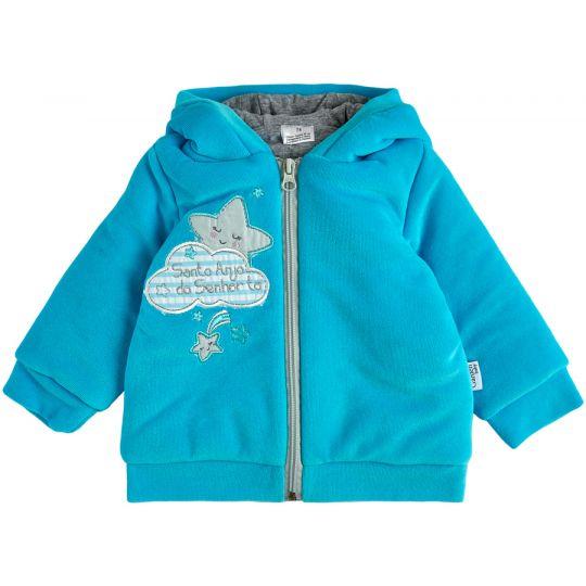 Куртка демисезонная утеплённая 105566-01 бирюза