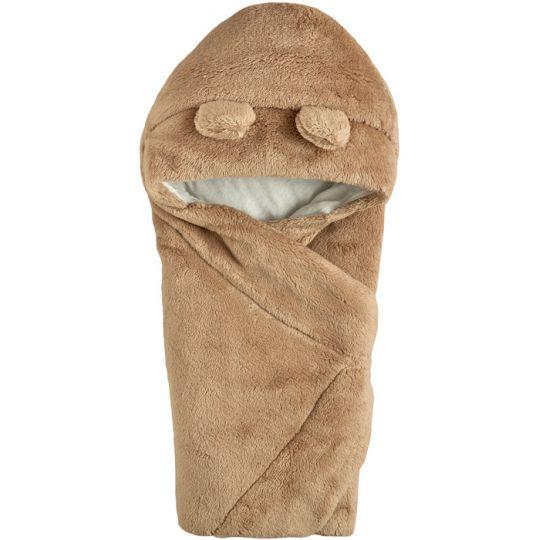 Одеяло конверт с капюшоном  106110-25 светло-кофейный