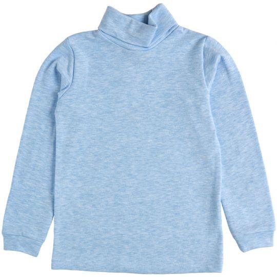 Гольф с отворотом 39057 голубой меланж