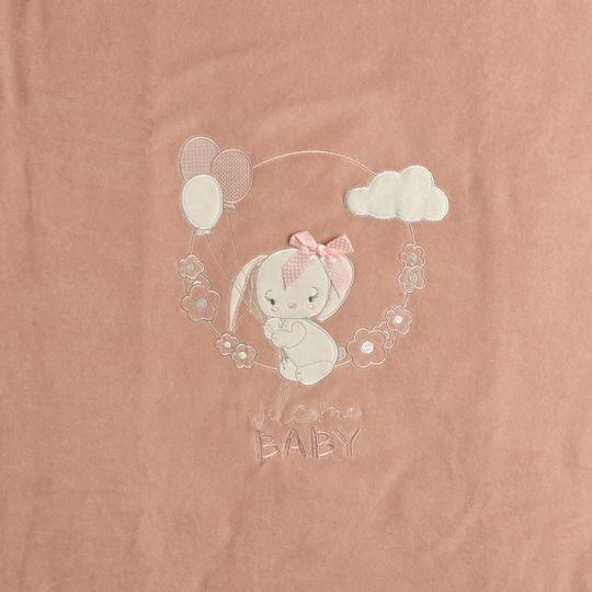 Плед одеяло утеплённый 106096-01-32 велюр пудра