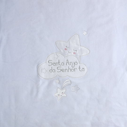 Плед одеяло утеплённое 106100-01-32 велюр белый
