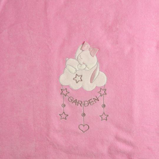 Плед одеяло утеплённый 106097-01-32 велюр розовый