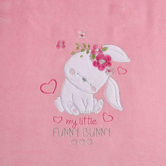 Плед одеяло утеплённый 106078-01-32 велюр розовый