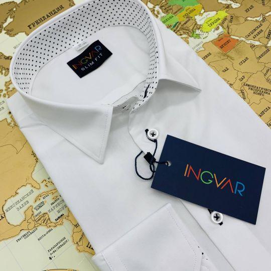 Рубашка школьная для мальчика 12-51-22 белая