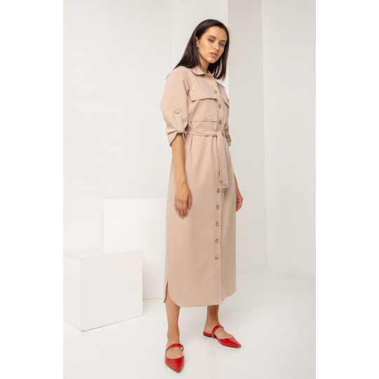 Платье Апарит 5574 бежевое