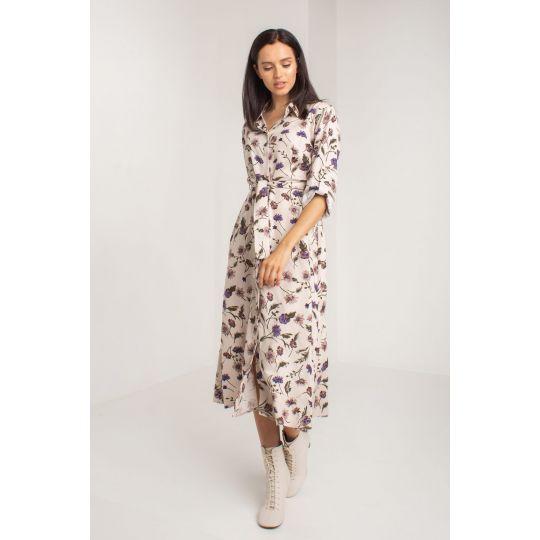 Платье Санрайз 5566 бежевое