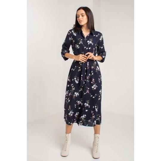 Платье Санрайз 5565 темно-синие