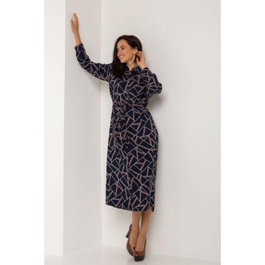 Платье Рапитал 5554 темно-синее