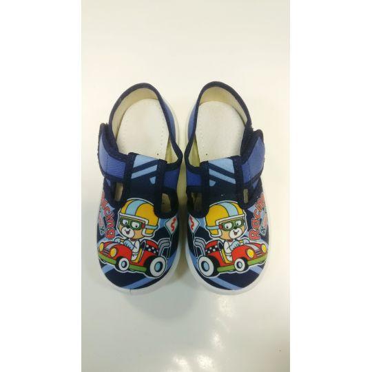 Туфли текстильные Рома мишка