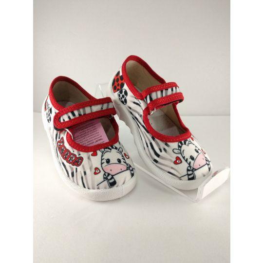 Туфли текстильные Катя Зебра