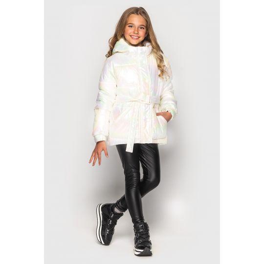 Куртка демисезонная для девочки Дея белая