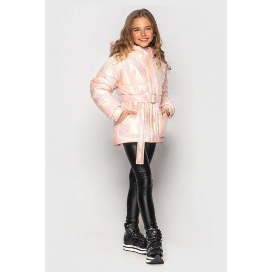 Куртка демисезонная для девочки Дея персик