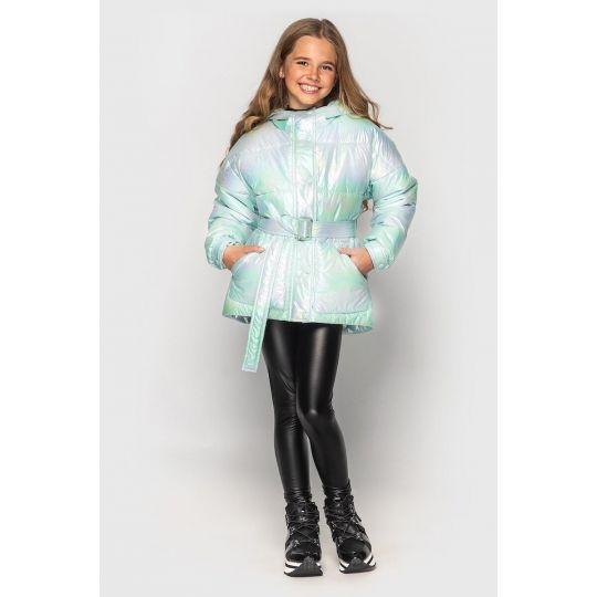 Куртка демисезонная для девочки Дея бирюза