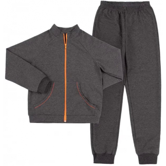 Спортивный костюм (куртка+брюка) КС663 графит