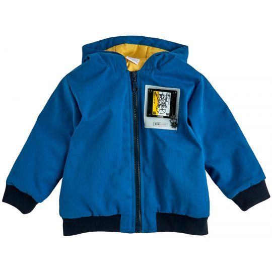 Куртка для мальчика 105579-55-26 васильковая+жёлтый
