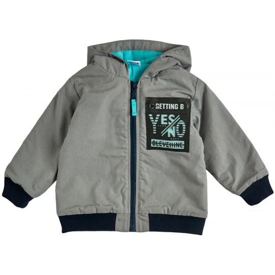 Куртка демисезонная для мальчика 105578-40-26 серая
