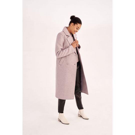 Пальто Алтея 5813 лиловое