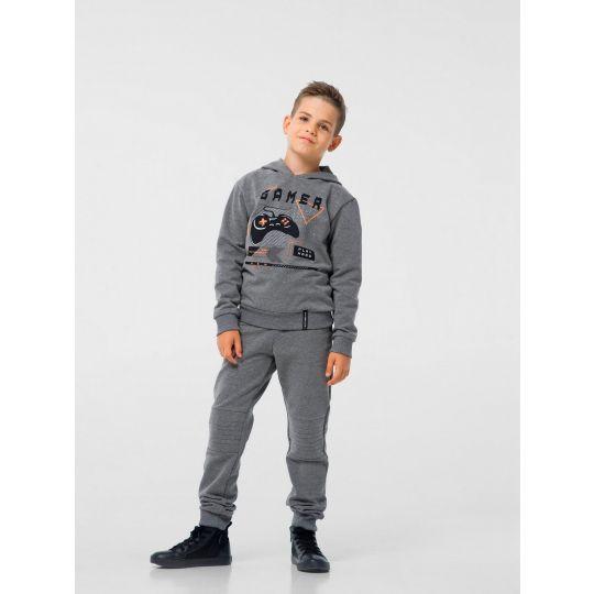 Спортивные брюки 115444/115445 с начесом серые