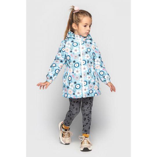 Куртка Эбби демисезонная голубая цветы
