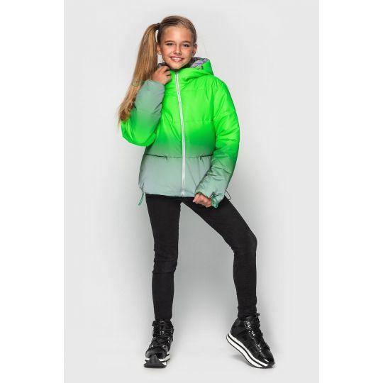 Куртка светоотражающая Колибри зеленая зимняя