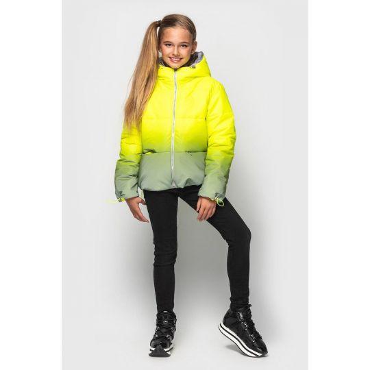 Куртка светоотражающая Колибри желтая зимняя