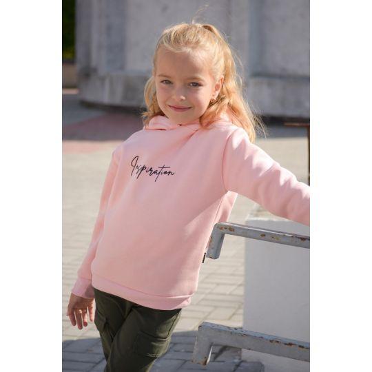 Худи с начесом INSPIRE розовое
