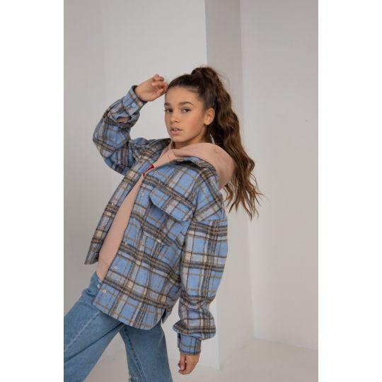Куртка-рубашка Раяна 6108 небесная