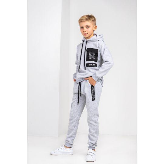 Спортивный костюм Арман 6192 байка серый меланж