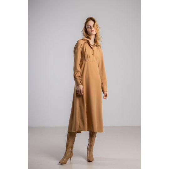 Платье Орната 5962 горчичное