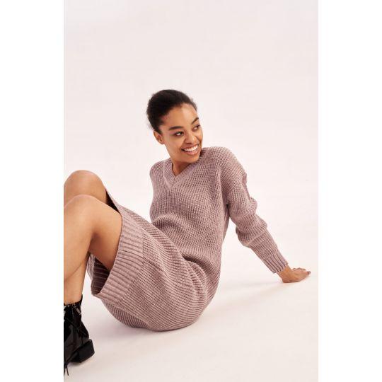 Вязаное платье Мелания 4554 лиловое