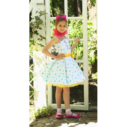 Нарядное платье для девочки Стиляги желтый бант