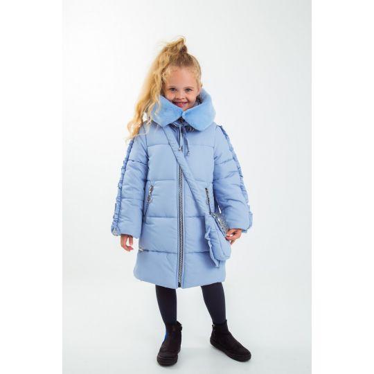 Куртка с сумкой Пейдж голубая