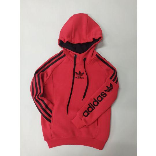 Худи с начесом Adidas красное